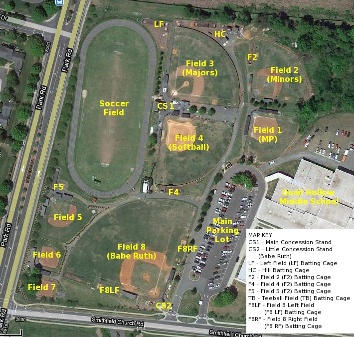 Park Sharon Fields Layout